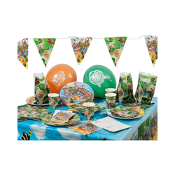 Folat Kindergeschirr-Set Partyset Safari Party