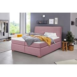 INOSIGN Boxspringbett Caltha (5-tlg), inklusive Topper rosa 180 cm x 214 cm