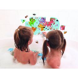 Janod Puzzle Puzzle für die Badewanne, 28 Puzzleteile blau