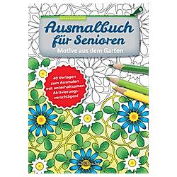 Ausmalbuch für Senioren. Motive aus dem Garten.