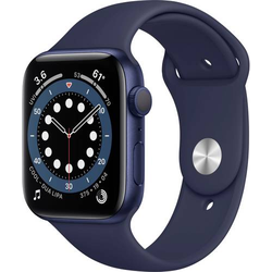 Apple Watch Series 6 GPS 44mm Aluminiumgehäuse Deep Navy Sportarmband Blau