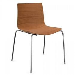 Arper CATIFA 46 0351 Stuhl Vierfuß Holzschale Eiche