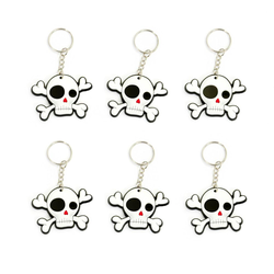 6 x Schlüsselanhänger Piraten Totenkopf Anhänger Accessoire Mitgebsel