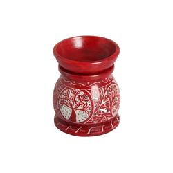 Casa Moro Duftlampe Orientalische Duftlampe Shakir-4 aus Soapstone geschnitzt 10x10x11 cm (B/T/H) Diffusor, Teelicht-Halter für Aromatherapie, Handmade Aromalampe, SL3040