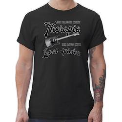 Shirtracer T-Shirt Ich brauche keine Therapie ich muss nur Bass spielen - Instrumente - Herren Premium T-Shirt M