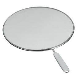 Metaltex Fritto Spritzschutz, verzinnt, Tropfschutzsieb aus feinperforiertem Alu-Steckmetall, Durchmesser: 33 cm