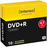 Intenso DVD+R 4.7GB 16x 10er Slimcase