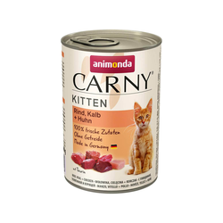 Animonda Carny Kitten Katzenfutter Nassfutter Katzen bis 1 Jah Rind Kalb + Huhn 400 g