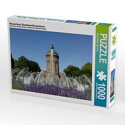 Wasserturm, Mannheim/Deutschland Lege-Größe 64 x 48 cm Foto-Puzzle Bild von foto +art by GR Puzzle