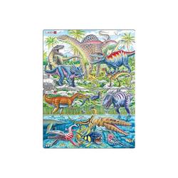Larsen Puzzle Puzzle - Dinosaurier, 2 x 28 Teile, Puzzleteile