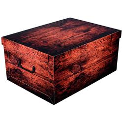 KREHER Aufbewahrungsbox Dark Wood braun
