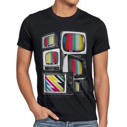 style3 Print-Shirt Herren T-Shirt Testbild big bang TV monitor theory retro fernseher heimkino vhs kino L