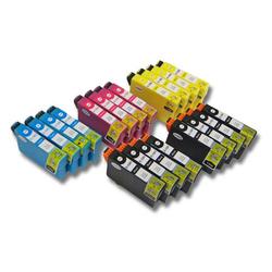 20 x vhbw Druckerpatronen Tintenpatronen Set passend für Epson Stylus Office BX300, BX300F, BX305, BX305F, BX320FW.