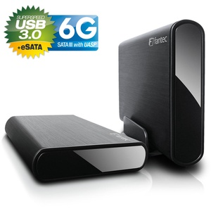 NEU 6000 GB EXTERNE FESTPLATTE FANTEC DB-ALU3e-6G USB 3.0 / eSata - Alu - 6TB