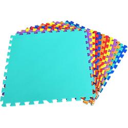 COSTWAY Puzzlematte Puzzlematte 24 Stück, 12 Stück, 60x60x1cm bunt 60 cm x 60 cm x 1 cm