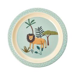 rice Teller Melamine-Teller Häschen, grün blau