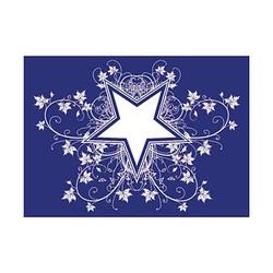 Rayher Siebdruckschablone Sterne blau
