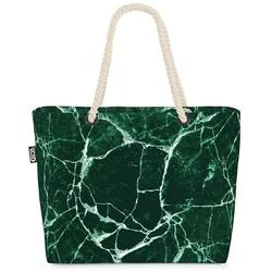 VOID Strandtasche (1-tlg), Grüner Marmor Beach Bag Marmor Stein Dekoration Textur Druck Boden Fliesen
