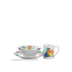 LEONARDO Kindergeschirr-Set Kindergeschirr BAMBINI 3-teilig (3-tlg), Porzellan