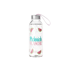 La Vida Trinkflasche Auswahl La Vida Trinkflasche 400ml Wasserflasche Glasflasche Motiv: Picknick Flasche