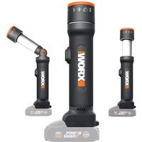Worx WX027.9 LED Lampe 4-in-1 – 20V – Aufladbare Multifunktions-Lampe mit 120-510 Lumen für Camping, Reisen und mehr – Ohne Akku & Ladegerät