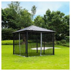 HOME DELUXE Pavillon Azur, Personen: 12, inkl. LED Beleuchtung & Solarpanel