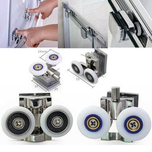 Duschkabinenrollen 26 mm Ersatzteile für Badezimmer Set mit 2 Doppelrollen DHL