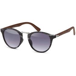 styleBREAKER Sonnenbrille Sonnenbrille Holz Optik Getönt schwarz