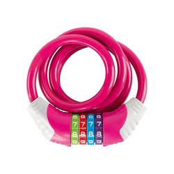 Puky Kettenschloss Kinder-Fahrradschloss, grün rosa