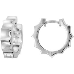 trendor 80128 Silber Damen-Ohrringe Creolen
