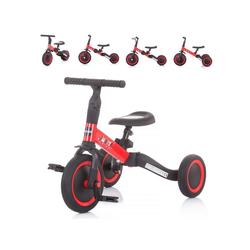 Chipolino Dreirad Dreirad Laufrad Smarty 2 in 1, Laufrad Gummireifen umbaubar Pedale verstellbar rot
