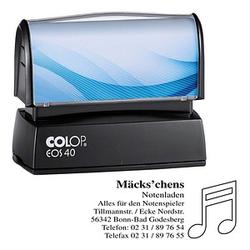 COLOP Textstempel, individualisierbar EOS 40 mit Logo