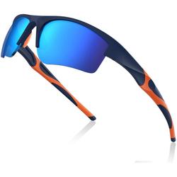 Avoalre Fahrradbrille, (Sonnenbrille Brille Angeln mit Rahmen TR90 Super Light Skibrille Blau), Avoalre Fahrradbrille Sportbrille Winddicht Fahrrad Sonnenbrille Anti UV400 fahradbrille Herren blau