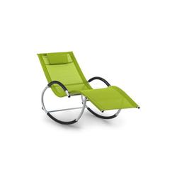 blumfeldt Gartenliege Westwood Rocking Chair Schaukelliege grün, Schwingeffekt, ergonomisch geformte Gartenliege
