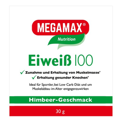 EIWEISS 100 Himbeer Megamax Pulver 30 g