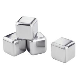Contento Eiswürfelform Edelstahl-Eiswürfel, (Set 4-tlg), in Geschenkbox