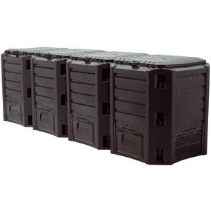 "Prosper Plast iklm1600 C-s411 261 x 71,9 x 82,6 cm Modul""Compogreen Komposter – Schwarz (2-teilig)"