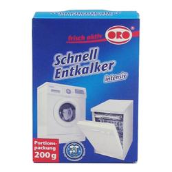 ORO®-frisch-aktiv Schnellentkalker, Schnell-Entkalker-Pulver für alle Haushaltsgeräte, 200 g - Packung