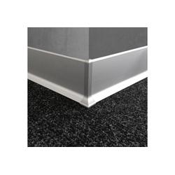 Kubus Sockelleiste Aluminium, L: 190 cm, H: 0.8 cm 190 cm x 0.8 cm