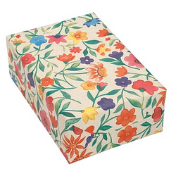 JUNG SCHÖNER VERPACKEN Geschenkpapier aus Graspapier Blumen