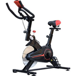 HOMCOM Fitnessfahrrad mit LCD-Monitor schwarz 102 x 47 x 104 cm (LxBXH)   Heimtrainer Bike Trainer Home Gym Indoor Cycling