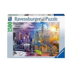 Ravensburger Puzzle Puzzle New York im Winter und Sommer, 99 Teile, Puzzleteile