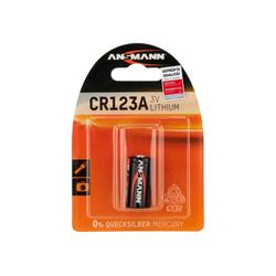ANSMANN® Lithium Batterie CR123A/CR17335, 1 Stück, CR123A Batterie