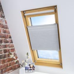 LIEDECO Universal-Dachfenster-Wabenplissee, Verdunklung, Farbe weiß