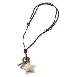J.Jayz Kette mit Anhänger mit Stern, Kreuz, beschriftete Plakette