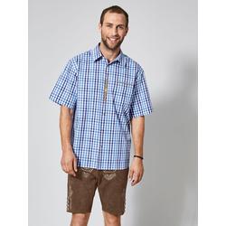 Trachtenhemd Men Plus Marineblau/Blau/Weiß