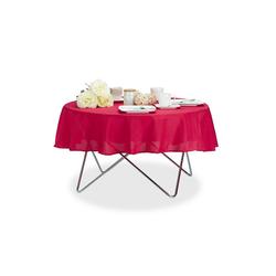relaxdays Tischdecke Tischdecke wasserabweisend in 3 Farben rot 140 cm x 140 cm x 1 mm