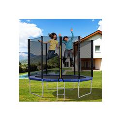 Merax Fitnesstrampolin Outdoor-Trampolin mit Sicherheitszaun und Leiter, 10 FT Gartentrampolin mit 150 kg