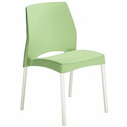 EL SOL Besucherstuhl mit 4-Fuß-Gestell und Kunststoff-Sitzschale, wetterfest