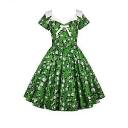 Chic Star Petticoat-Kleid Chic Star Kleid grün 3XL (52)